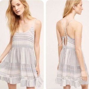 Anthropologie Eloise Stripped Chemise Dress size S